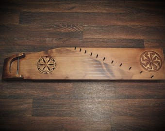 Gusli / Kolovrat / Psaltery Russian traditional stringed instrument 11-string Handmade Unique Harp