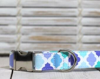 Purple/Aqua/Mint Dog Collar - Spring 2017