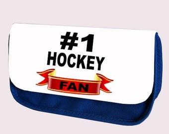 NUMBER #1 HOCKEY FAN  Pencil case / Make-up or clutch bag (Hashtag)