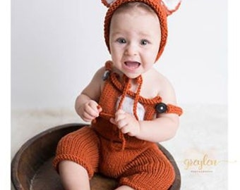 Sale! Photography prop fox set baby sitter 6-9 month