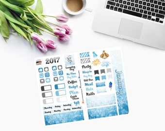 Pocket size Slip-in JANUARY SAMPLER Planner Stickers