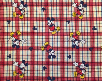 Mickey Mouse Plaid Blanket