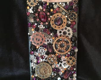 """Steampunk style """"Enjoy the Journey"""" IPhone 6-Plus custom/one of a kind phone case."""
