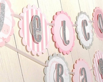 Welcome Baby Banner Girl
