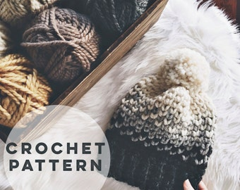 Fair Isle Crochet Hat Pattern | The Nash Hat Crochet Pattern | Crochet Hat Pattern. DIY Hat Pattern. Crochet Fair Isle. Mini Heart Hat.