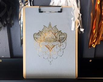 Mandala foil print