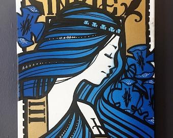 Hiawatha Blue original canvas