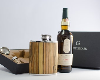 Gift Set - Handmade Hipflask and Scotch Whisky