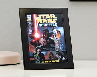 Star Wars Comics Framed Genuine Postcard Infinities 1 A New Hope Leia Gift Frame, XS180