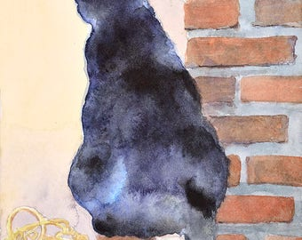 Cat No17 family water color