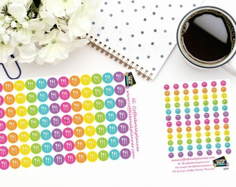Planner Stickers|Meal Planning Stickers| Icon Dot Stickers|For use with planners and journals|2 sizes available|I008 I008M
