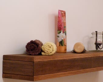 Floating Shelf, Wooden Floating Shelf, Floating Shelves, Bathroom Decor, Ledge Shelf