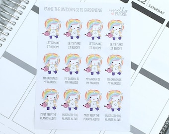 Rayne the Unicorn Gets Gardening   Tales of Rayne the Unicorn   Planner Stickers