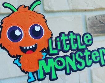 Little Monster Cake Topper, Little Monster 1st Birthday Decorations,Monster First Birthday,Monster Cake Topper, Monster Birthday Decorations