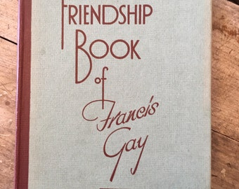 Friendship book - Francis Gay - 1950s friends book - vintage diary - friend gift - bff present - kitsch book