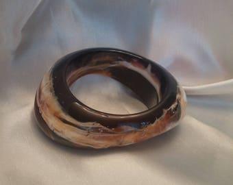 Lucite Bangle Bracelet