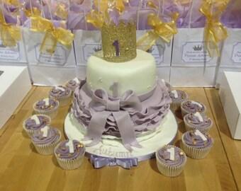 Vintage Lace Baby Crown , Photo Prop, Cake Smash, Cake Topper.