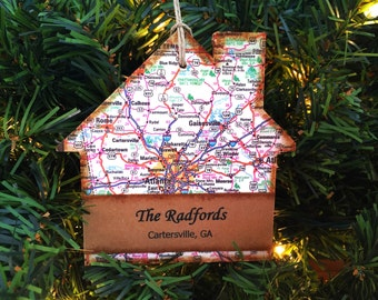 Personalized New Home Ornament, First Home Ornament, New House Christmas Ornament, Housewarming Gift From Realtor, Real Estate Closing Gift