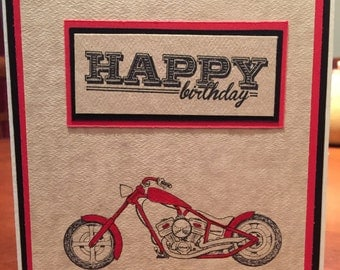 Birthday Card for Him - Motorcycle