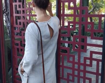 HEMP dress / non-dyed natural hemp clothing /Organic clothing/ Hemp /Eco-friendly
