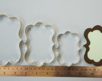 Set Of 3 Plaques Metal Cutters