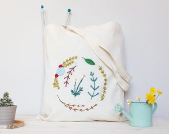 Hand embroidered Flowers Bag