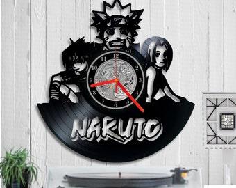 Naruto Vinyl clock record vinyl clock, Wall clock, Vinyl record clock, Manga Series, Ninja, Home Decor, Wall Art, Birthday Gift , Handmade