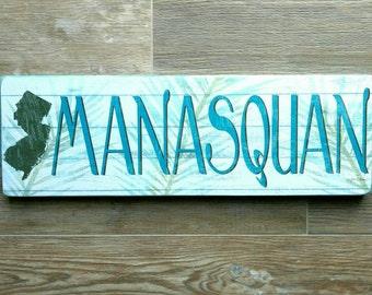 Jersey Shore-Manasquan-  Beach town Sign- Manasquan, NJ, New Jersey