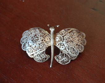 Hand Made Silver Wire Butterfly