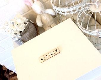 Keepsake Wooden Baby box, memory box, new baby gift, nursey decor
