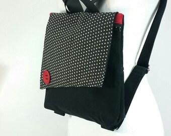 Black mini backpack | Etsy