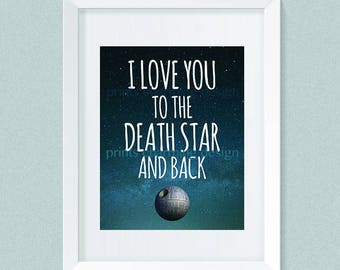 Love you death star etsy star wars quote star wars boy nursery decor i love you to the thecheapjerseys Gallery