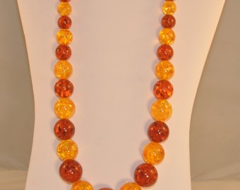 Multicolored Amber Rounds Necklace