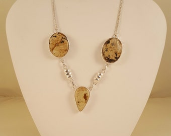 Jasper and Silver Necklace