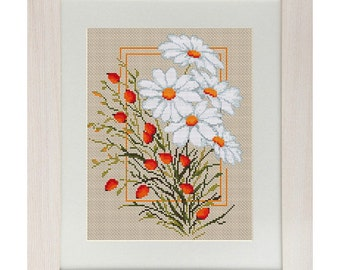 Cross Stitch Kit Camomiles Luca-s Anchor threads