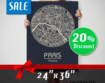 PARIS France map Paris, Paris map, Paris map print, Paris canvas, Paris canvas map, canvasp Paris map, Paris canvas art, Paris France