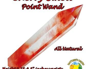 Cherry Smelt Crystal Point Wand