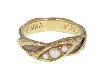 Antique Victorian Pearl Ring