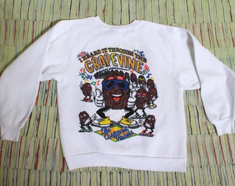 Vintage 80's California Raisins Sweatshirt, Size Medium-Large