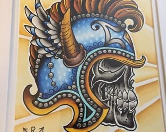 Traditional Tattoo Skull
