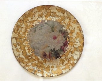"""Gilded glass plate """"Shade"""""""