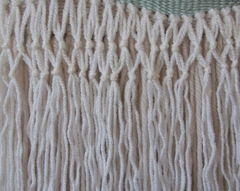 Woven Wall Hanging // Cream // Pink // White // Taupe // Mint // Silver