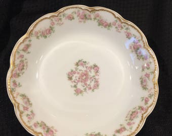 "Antique Haviland France Limoges Schleiger 270 7 1/2"" Cereal or Salad Bowl"