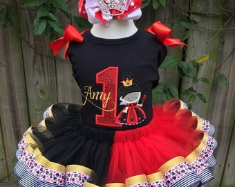 Queen Of Hearts Ribbon Tutu Set