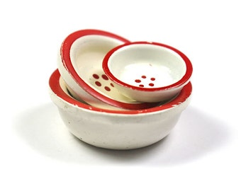 Miniature Set of 3 Country bowls