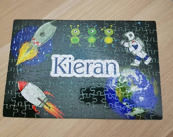 Personalised space jigsaw, space gift, space jigsaw, kids jigsaw, personalised gift, personalised jigsaw, childrens jigsaw, personalised gif