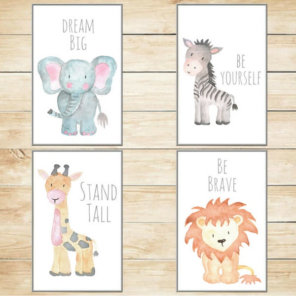 Safari Nursery Ideas: Safari Nursery Decor Nursery Wall Art Baby Animal Prints