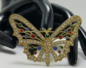 Jeweled Butterfly Pin