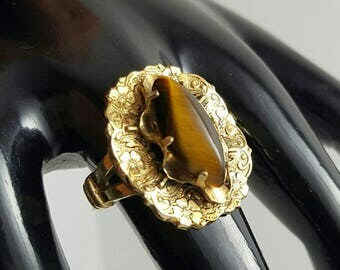 Tiger's Eye Gold Filled Ring