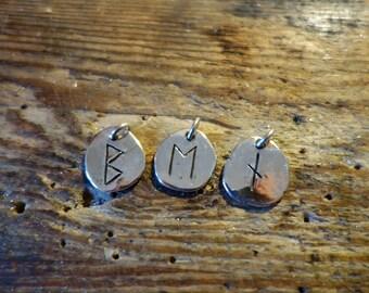 Rune pendant Vikings medieval magic